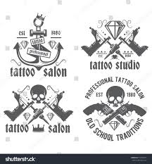 Tattoo Studio Vector Logo On White Stock Vector Royalty Free 512864911
