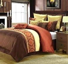 post burnt orange comforter california king set bright bedding grey and beige sets