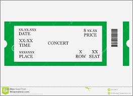 Blank Concert Ticket Template Blank Concert Band Seating Chart Concert Tickets