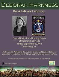 book signing flyer deborah harkness book talk and signing