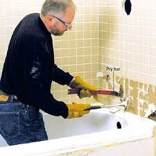 how to remove old bathtub step 4 remove tub spout and tiles how to remove old bathtub