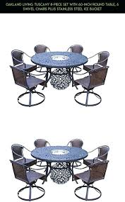 round table oakland living 8 piece set with inch round table 6 swivel oakland table la forma