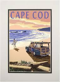 Amazon Com Cape Cod Massachusetts Woody On Beach 11x14