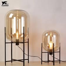 glass floor lamp. Original Art Glass Floor Lamps Lights For Amber Smoky Colour Wrought Iron Stent Living Room Lamp S
