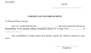 Employment Certificate Template Classy Resume Responsibilities Sample Employment Certificate Employer