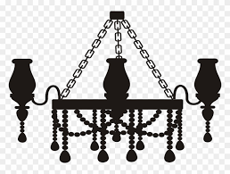 medium image chandelier silhouette png