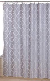 Geometric Patterned Curtains Amazoncom Utopia Home Opulent Printed Shower Curtainsgrey
