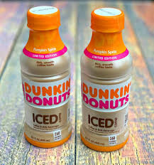 treat yourself with dunkin donuts bottled iced coffee pumpkin e