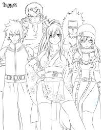 Fairy Tail Team Lineart By Ishthak