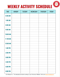 Summer Daily Schedule Template Himama Child Care Apps With Daycare Daily Sheets