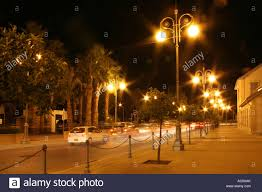 Special Lights Larnaca Promenade At Night Larnaca Cyprus Stock Photo 13089114