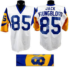 79 com Quality 52500 F22d1 Rams Game Worn Jersey Trdark - Angeles 1972 Collectibles Mccutcheon Football Los Lawrence Uniforms