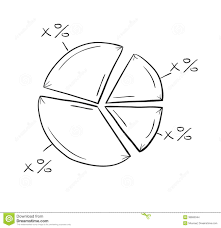 Sketch Of The Pie Chart Stock Vector Illustration Of
