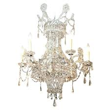 vintage crystal basket chandelier c stone antiques interiors x
