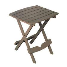 quik fold portobello resin plastic outdoor side table