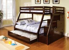 beds with steps. Simple Steps This Elegant Bed Frame In A Modern Angled Construction Features Third Bed  Trundle Tucked Beneath The Lower Bunk Stairs On Right Side Of  In Beds With Steps N