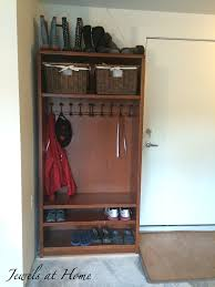 Mudroom Cubbies Plans Mudroom Locker Made From A Repurposed Bookcase Jewels At Home