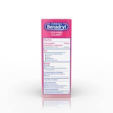 Childrens Benadryl Dye Free Allergy Liquid, Bubble Gum Flavored, 4 ...