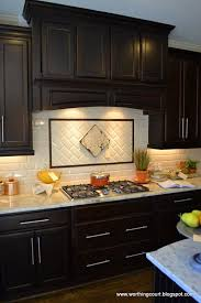 Backsplash Tiles For Dark Cabinets Fresh Contemporary Kitchen