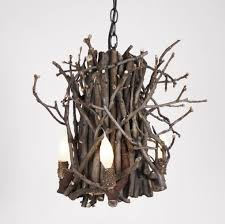 nature inspired lighting. twig chandelier nature inspired lighting