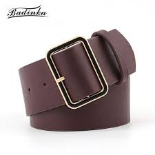 senarai harga baa 2018 new designer las gold square buckle belt womens wide black red pu leather belts for women jeans cinturon mujer terkini di