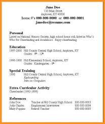 6 7 Resume Builder For High School Students Wear2014 Com