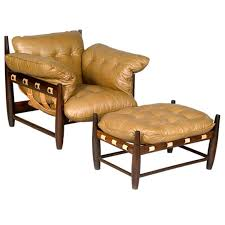 pair of mole chairs with ottoman by sergio rodrigues from a unique collection