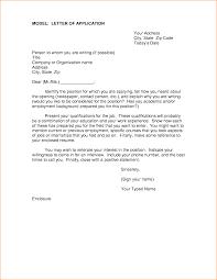 job application letter in model paper basic job appication model letter of application