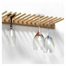 image of wall mounted wine glass rack