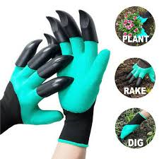 gardening gloves with claws for raking