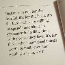La distancia no es para los temerosos Es para los atrevidos Es New Distance Quots
