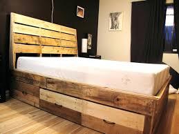 pallet bed frame queen rustic light gray wooden queen size platform bed diy wood pallet queen