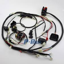 popular magneto buy cheap magneto lots from magneto wire loom harness solenoid 6 coil magneto stator coil regulator cdi wiring assembly for gy6 150cc