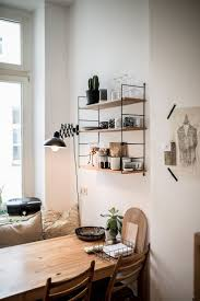 home decorating ideas kitchen kitchen dining table set string wall shelf wood dining table chairs scandinavian
