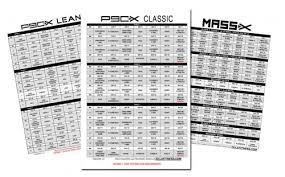 The P90x Workout Schedule Pdf Classic Lean Doubles