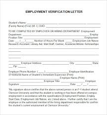Employment Verification Letter Template Free Gdyinglun Com