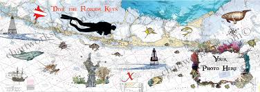 Great Loop Charts Florida Keys Art On Nautical Charts By Marjorie Smith