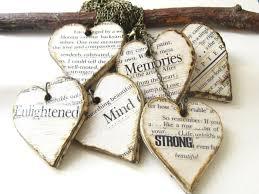diamond wedding decoration wood heart wooden wedding gift idea