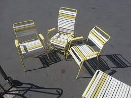 vintage 36s 36s metal vinyl strap patio lawn chair lounge set