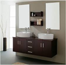 contemporary bathroom vanity with floating cabinet and double wall mirror cheap vanity lighting