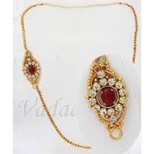 long chain kodi mugappu side pendant gold plated for sarees