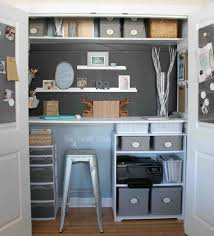 diy closet into office