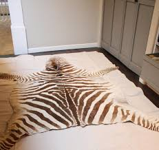 now zebra cowhide rug tiles flooring skin hide faux living room real uk