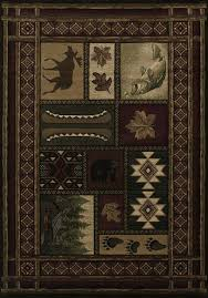 united weavers contours cabin chalet toffee area rug x lodge style rugs best rustic and images