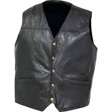 navarre mens lightweight conceal carry patch leather motorcycle vest