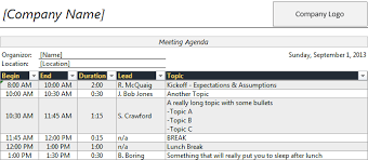 Agenda Meeting Template Word Amazing Time Agenda Template For Excel Robert McQuaig Blog