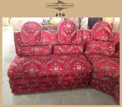 Arabo di lusso regale trono di nozze divano ad angolo colore rosso