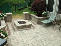 patio with square fire pit. Square Fire Pit Plans Great Patio With Fine Pertaining Other Fresh