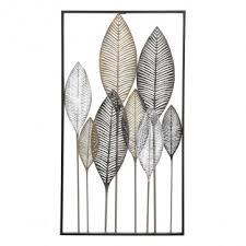 image description on rectangular wall art uk with delicate leaf wall art with a rectangular frame