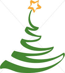 Simple Artistic Christmas Tree Clipart Religious Christmas Clipart